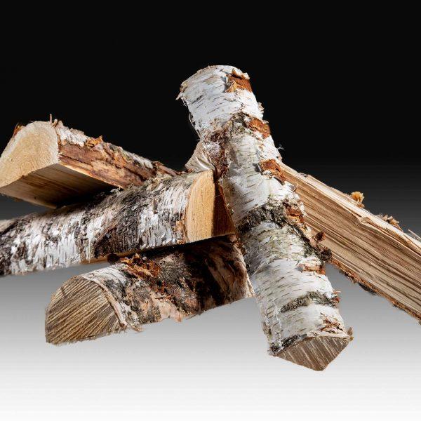 Holzscheitel Birkenholz Brennholz Wecker